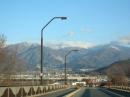 山には雪が!