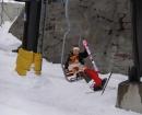 連続スキー場へ